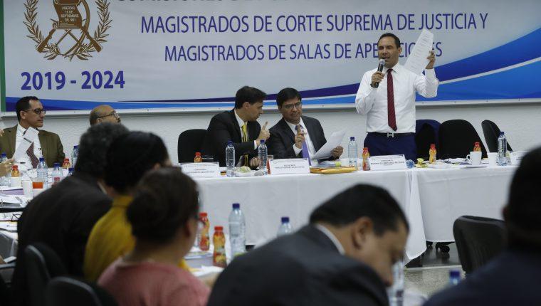 Reunión de la Comisión de Postulación para  magistrados de salas de Apelaciones. (Foto Prensa Libre: Hemeroteca PL)
