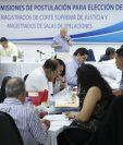 Comisión de Postulación para elección de magistrados de la Corte Suprema de Justicia empieza evalúa  expedientes de candidatos. (Foto Prensa Libre: Hemeroteca PL)