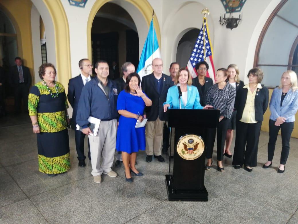 Así transcurrió la visita en Guatemala de Nancy Pelosi, opositora de Donald Trump