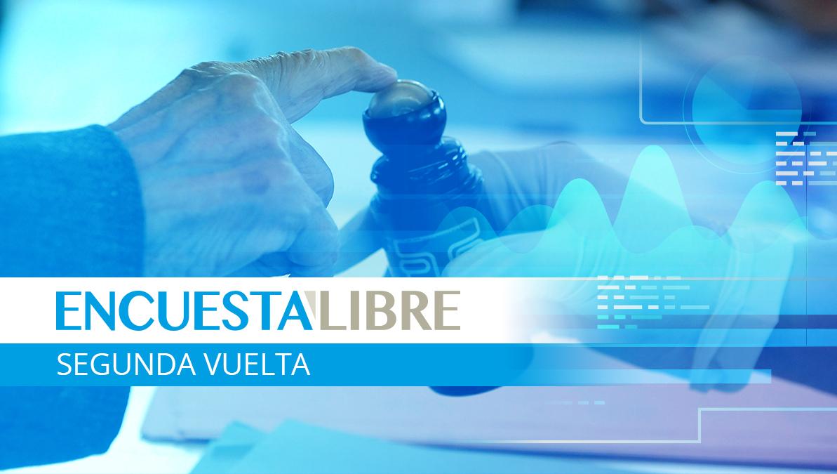 Encuesta Libre:  Intención de voto segunda vuelta elecciones Guatemala
