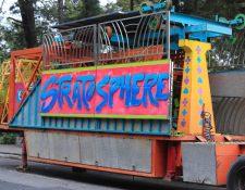 Desde este lunes 5 de agosto comenzaron los preparativos para instalar la Feria de Jocotenango.(Foto Prensa Libre: Juan Diego González)