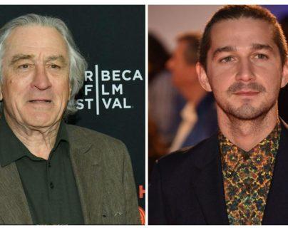"""Los actores Robert de Niro y Shia LaBeouf formarán la pareja protagonista en el filme """"After Exile"""". (Foto Prensa Libre: AFP)"""