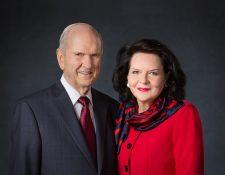 Russell M. Nelson, presidente  de La Iglesia de Jesucristo de los Santos de los Últimos Días y su esposa Wendy. (Foto Prensa Libre)