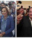 Sandra Torres y Alejandro Giammattei emitieron su voto esta mañana en centros de votación de la capital. (Foto Prensa Libre: Edwin García y Juan Diego)