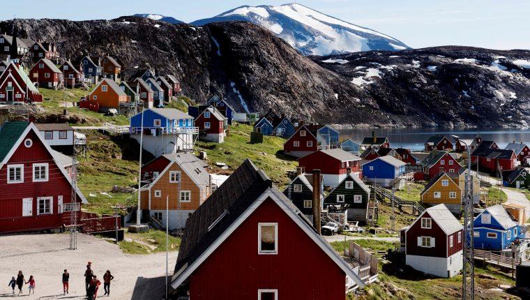 La localidad de Upernavik, al oeste de Groenlandia. (Foto Prensa Libre: EFE)