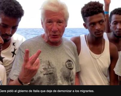 Open Arms: la dura disputa entre el actor Richard Gere y el ministro de Interior de Italia, Matteo Salvini, por un barco de migrantes en el Mediterráneo