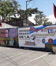El cierre del campus central de la USAC tardo un mes, hasta que fueron cumplidas las demandas. (Foto Prensa Libre: Andrea Domínguez)