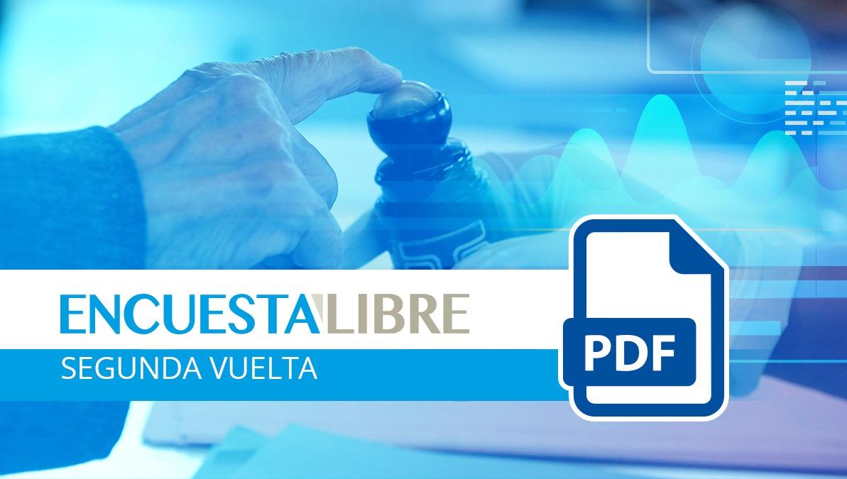 La Encuesta Libre en PDF:  intención de voto segunda vuelta elecciones Guatemala 2019