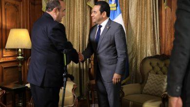 Alejandro Giammattei y Jimmy Morales se reúnen por primera vez después de las elecciones