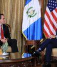 Mauricio Claver-Carone, asesor de Donald Trump, se reunió con Jimmy Morales. (Foto Prensa Libre: SCSP)