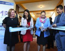 Autoridades del MP inauguraron de forma simultánea 30 fiscalías desde Acatenango, Chimaltenango. (Foto Prensa Libre: Cortesía MP)