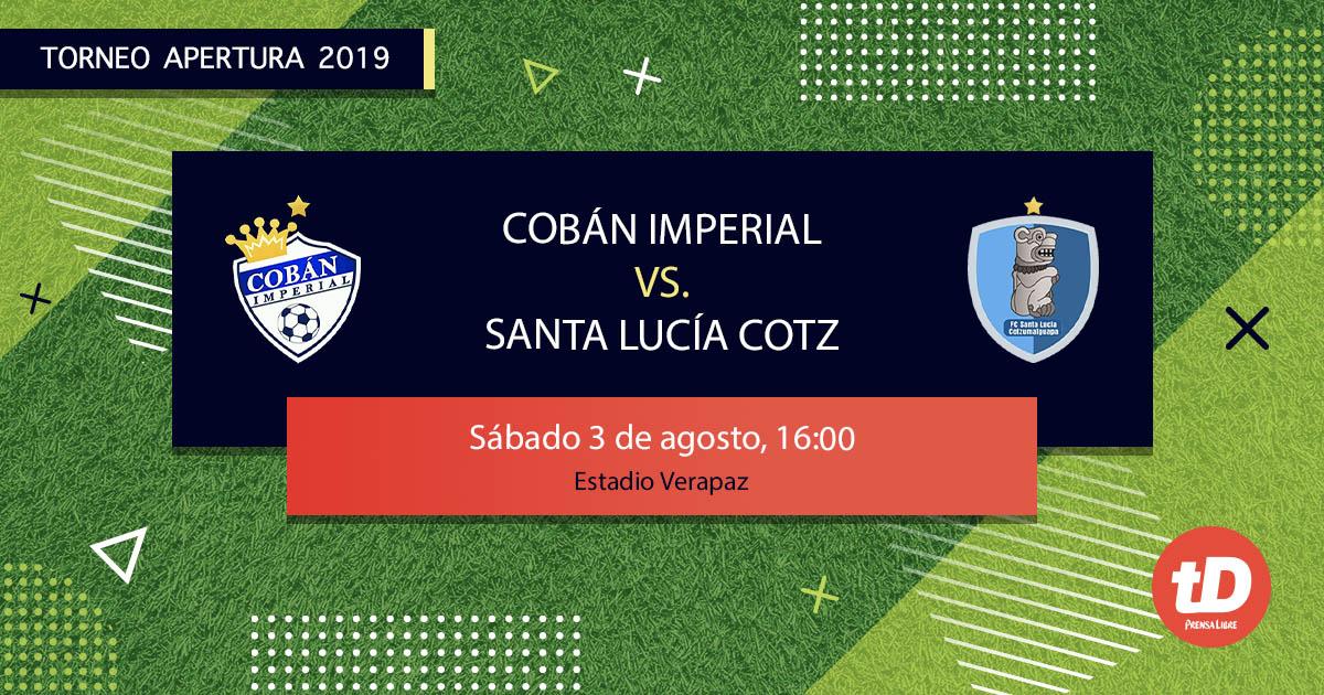 EN DIRECTO | Cobán Imperial vs Santa Lucía Cotz