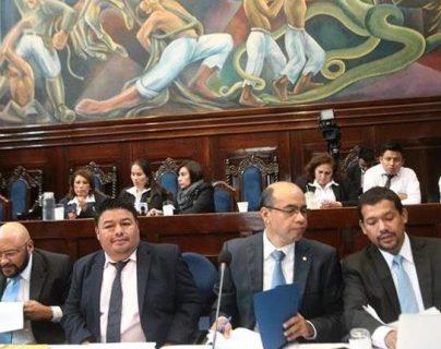 Ramírez Crespín (tercero de izquierda a derecha), fue asesor de Jimmy Morales durante el tiempo de campaña. (Foto Prensa Libre. Hemeroteca)