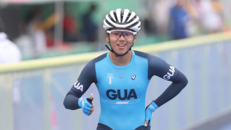 Dalia Soberanis, después de la competencia en esta jornada sabatina. (Foto Prensa Libre: Carlos Vicente)