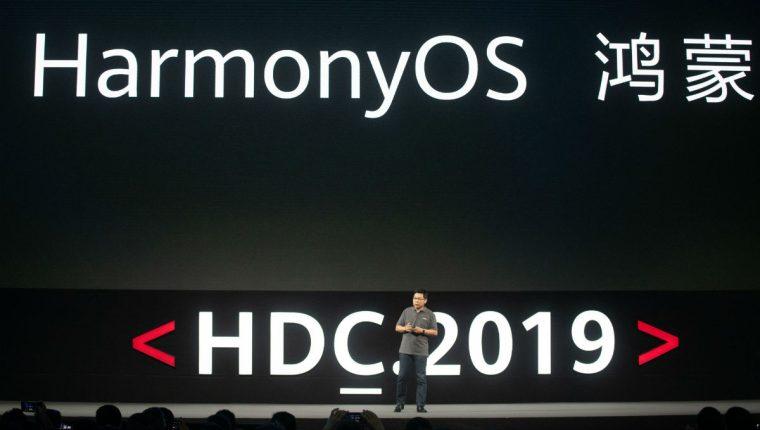 """Huawei presenta el sistema, denominado """"HarmonyOS"""". (Foto Prensa Libre: AFP)"""