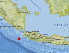 El epicentro del sismo fue al Sureste de Indonesia. (Foto Prensa Libre: USGS)