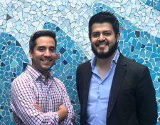Juan Manuel Larios, Felipe Oliva y Jorge Castillo (fuera de la foto) arrancaron el proyecto en Guatemala invirtiendo US$100,000 para el desarrollo y la validación del prototipo. (Foto Prensa Libre: Cortesía)
