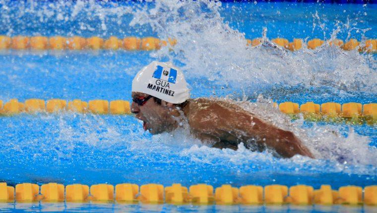Luis Carlos Martínez, durante la prueba de 100 metros mariposa. (Foto Prensa Libre: Cortesía COG)