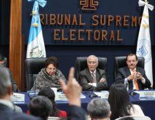Los magistrados del TSE podrían ser investigados por el MP tras orden de juez. (Foto Prensa Libre Carlos Hernández Ovalle)