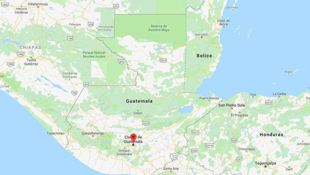 Mapa de Guatemala y sus departamentos por regiones