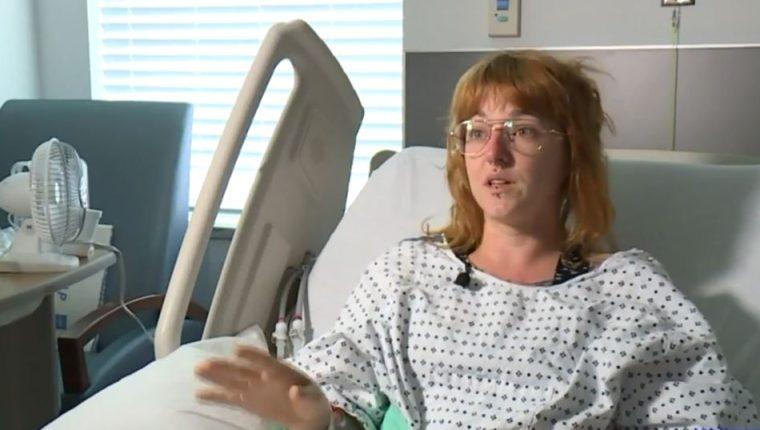 Dannette Giltz es de Dakota del Sur y recientemente tuvo trillizas, pero aseguró que nunca se enteró que estaba embarazada. (Foto Prensa Libre:  Kota TV)