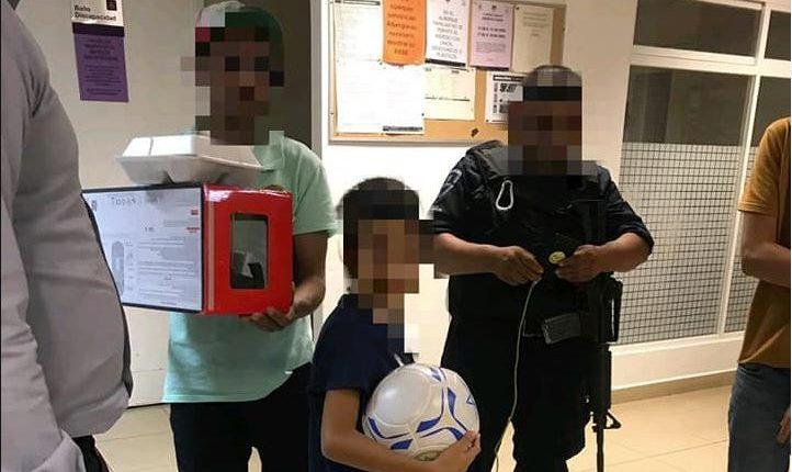 El menor recibió atención en un hospital mexicano. (Foto Prensa Libre: Gobierno del Estado de Moleros)