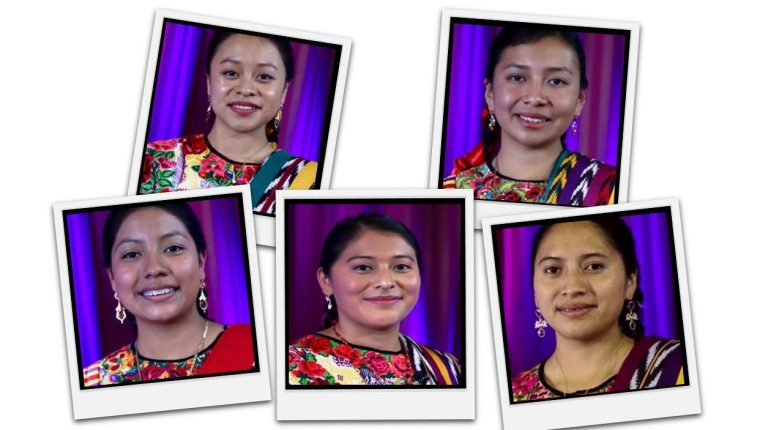 Cinco son las aspirantes al título de Umial Tinimit Re Xelajuj No´j. (Arte Prensa Libre: Mynor Toc)