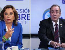 Torres y Giammattei competirán en la segunda vuelta electoral el 11 de agosto. (Fotos Prensa Libre: Hemeroteca PL)