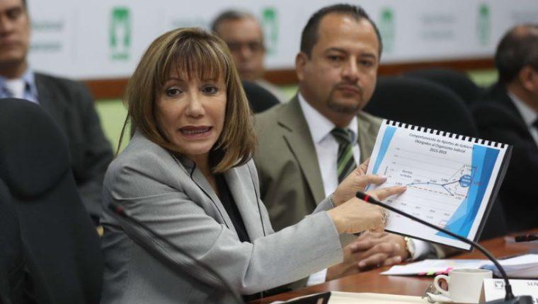Silvia Patricia Valdés, magistrada vocal I de la CSJ. (Foto Prensa Libre: Hemeroteca PL)