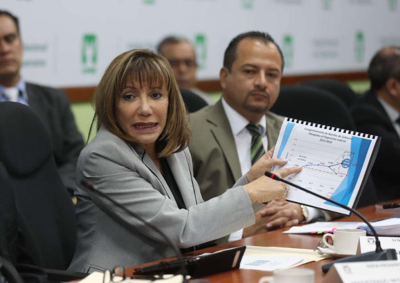Magistrada Silvia Valdés pone a disposición del Congreso su cargo