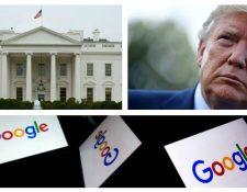Donald Trump acusa a goolge de perjudicarlo en las elecciones presidenciales. (Foto Prensa Libre: AFP)