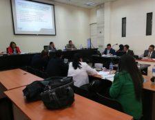 Tribunal donde se lleva a cabo la audiencia contra los dos últimos acusados del caso Agua Mágica. (Foto Prensa Libre: Kenneth Monzón).