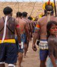 Los indígenas durante el encuentro que reunió a representantes de 14 grupos étnicos y cuatro reservas ribereñas en Menkragnoti, en el estado de Pará.  Lucas Landau/Rede Xingu+