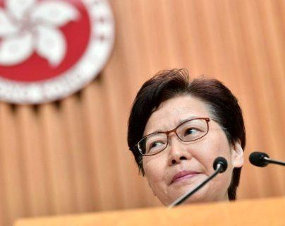 Carrie Lam anunció este miércoles que retirará el controvertido proyecto de ley de extradición. AFP