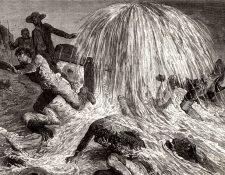 El estadounidense Edwin Drake fue el primero que extrajo petróleo con éxito, en 1859. Hoy EE.UU. es el primer productor mundial de este combustible, gracias al html5-dom-document-internal-entity1-quot-endfrackinghtml5-dom-document-internal-entity1-quot-end.