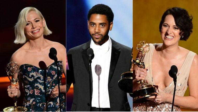 Michelle Williams, Jharrel Jerome y Phoebe Waller-Bridge, todos ganadores de la edición 71 de los Emmy.