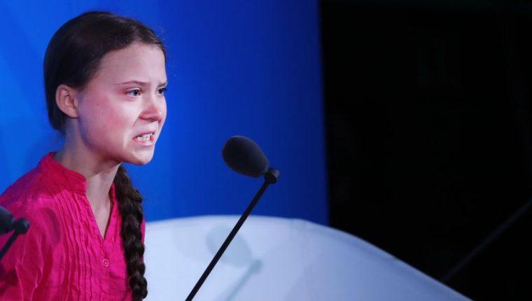 Me han robado mis sueños y mi infancia con sus palabras vacías, dijo la joven activista en la apertura de la cumbre del clima en las Naciones Unidas que se está realizando esta semana en Nueva York.