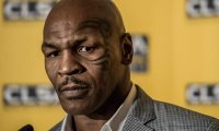 US boxer and former heavyweight world champion Mike Tyson addresses a press conference in Hong Kong on September 12, 2012. Tyson is in Hong Kong to attend the annual CLSA investor forum.   AFP PHOTO / Philippe Lopez        (Photo credit should read PHILIPPE LOPEZ/AFP/GettyImages)