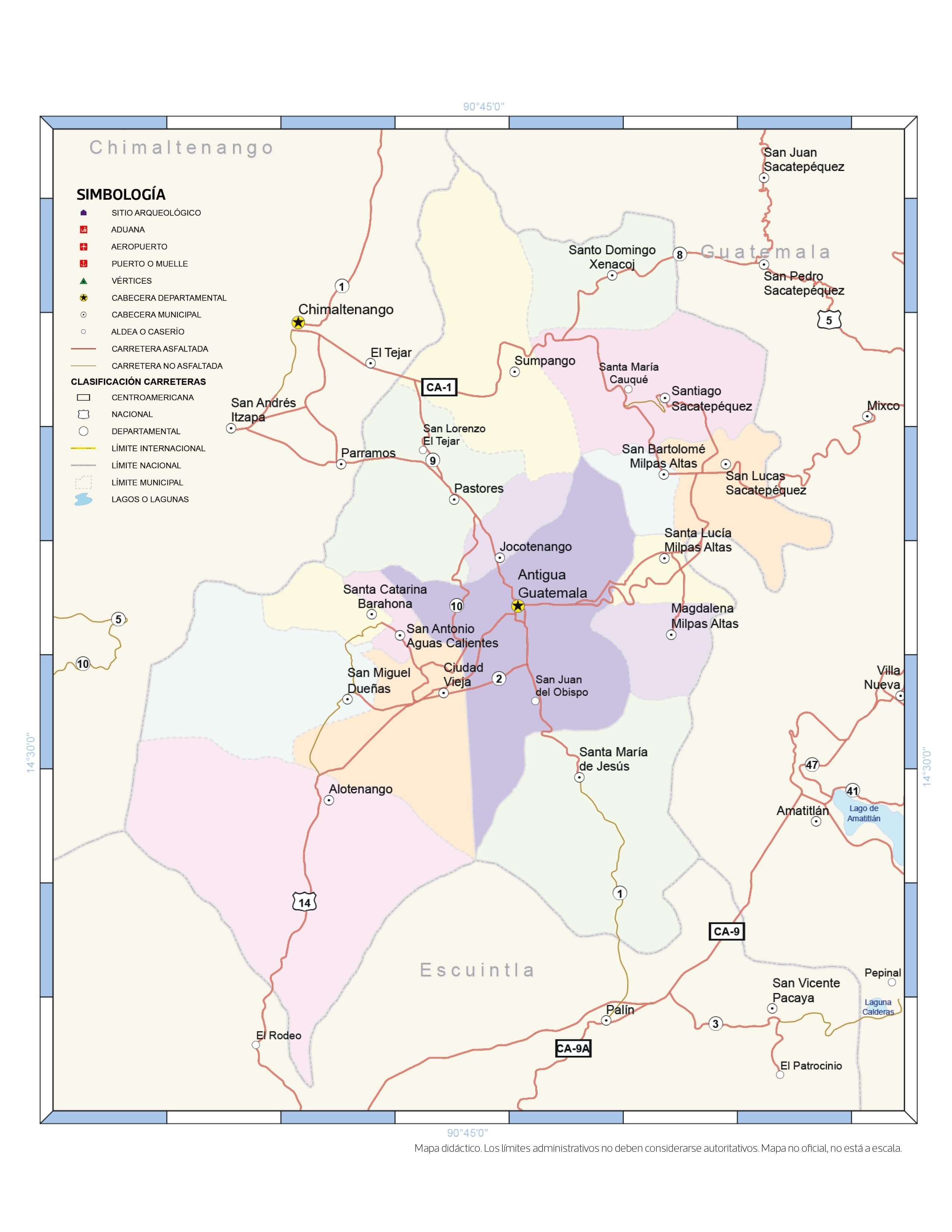 Mapa De Guatemala Y Sus Departamentos Por Regiones Prensa