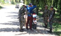 En Izabal las fuerzas de seguridad realizan varios operativos. (Foto Prensa Libre: Dony Stewart)