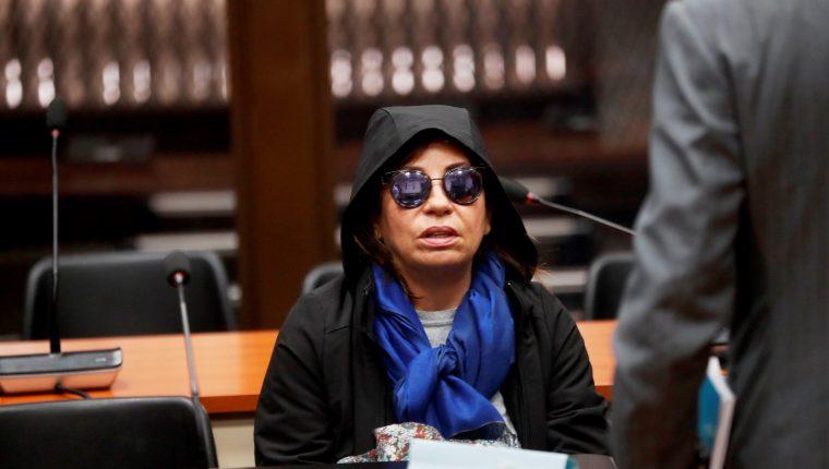 Sandra Torres, durante la audiencia para que conociera el motivo de su detención. (Foto Prensa Libre:  Hemeroteca PL)