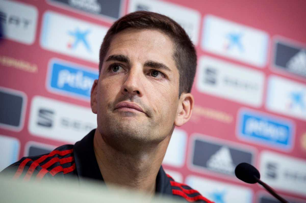 """Robert Moreno, entrenador de España: """"Si Luis Enrique quiere volver estoy encantado de dar paso a un lado"""""""