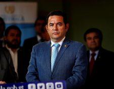 El presidente de Guatemala, Jimmy Morales, participa en el 74 período de sesiones de la Asamblea de las Naciones Unidas. (Foto Prensa Libre: EFE)