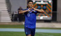 AME5972. MAYAGÜEZ (PUERTO RICO), 10/09/2019.- Alejandro Galindo de Guatemala reacciona este martes durante el juego entre Puerto Rico y Guatemala por la Liga de Naciones Concacaf en el Estadio Centroamericano de Mayagüez (Puerto Rico). EFE/Thais Llorca