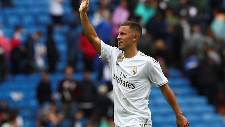 El delantero belga Eden Hazard está ilusionado con jugar la Champions con el Real Madrid. (Foto Prensa Libre: EFE)