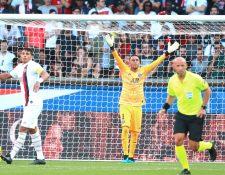 Keylor Navas, durante su primer partido con el PSG. (Foto Prensa Libre: EFE)