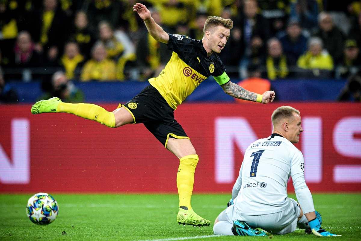 Ter Stegen salva al Barcelona en Dortmund en el regreso de Messi