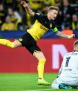 Marco Reus no pudo con el portero alemán del Barcelona, Marc-Andre ter Stegen, en el primer partido de fase de grupos de la Champions. (Foto Prensa Libre: EFE)