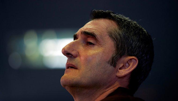 El entrenador del FC Barcelona, Ernesto Valverde, confía en la recuperación del equipo. (Foto Prensa Libre: EFE)
