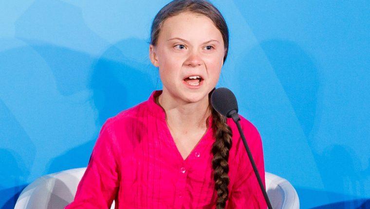 La activista medioambiental sueca Greta Thunberg fue distinguida con el Nobel Alternativo. (Foto Prensa Libre: EFE)